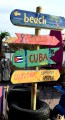 tropical beach sign wegwijs bord ibiza curacao cuba party carecaverhuur decorstukken
